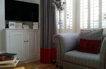 Dress Curtains with Contrast Border